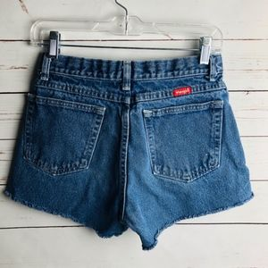 Wrangler Cut Off Denim Shorts Mom Jean